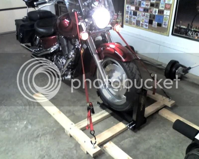 Securing Motorcycle In Hauler