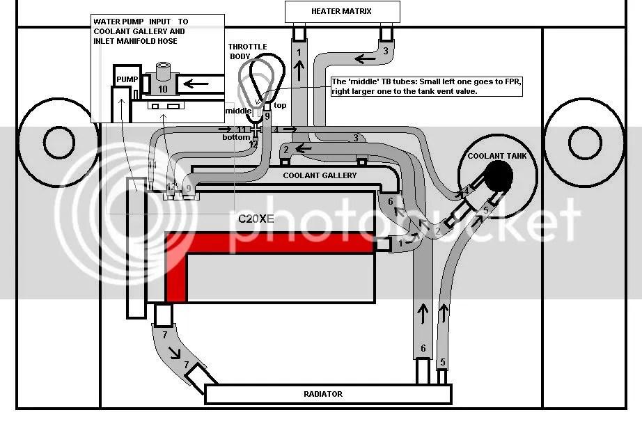 c20xe into nova water hoses
