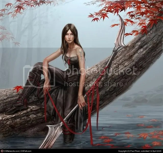 Anime Warrior Girl Image