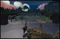 This is where players should start, standing on top of the downed shuttle. Click for larger View.