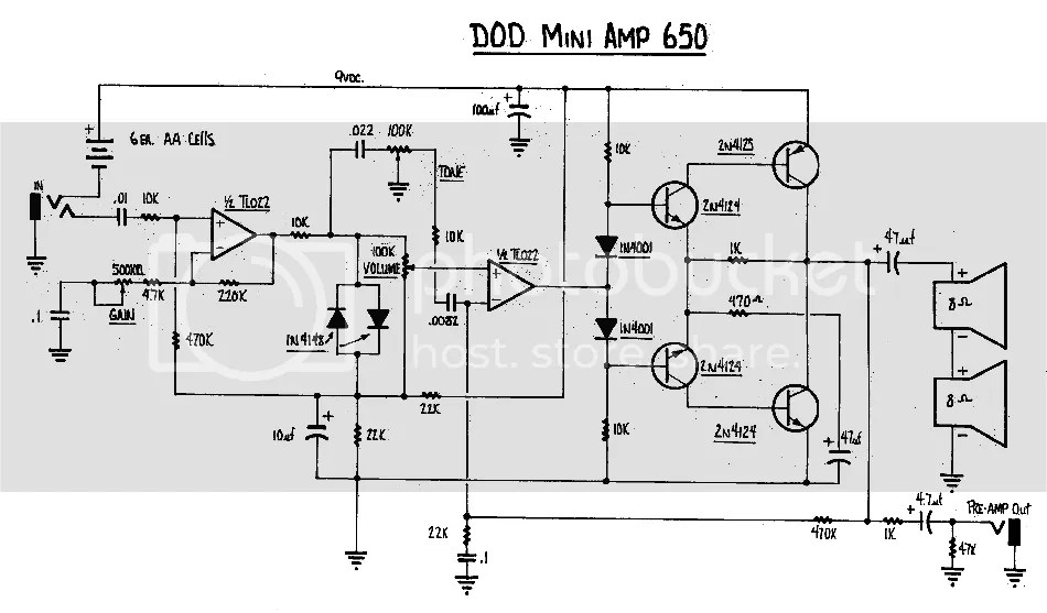 DOD 650 mini-amplifier