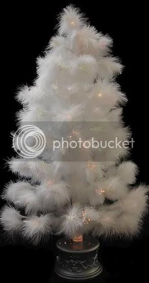 32 snow white feather fiber optic christmas tree 5499 - White Feather Christmas Tree