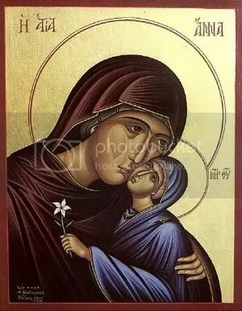 Conception by St Anna of the Theotokos
