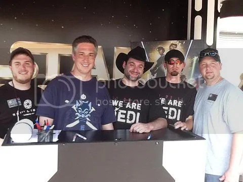 Georgia Garrison members with Dave Filoni