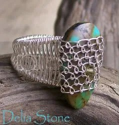 Netted Turquoise Ring
