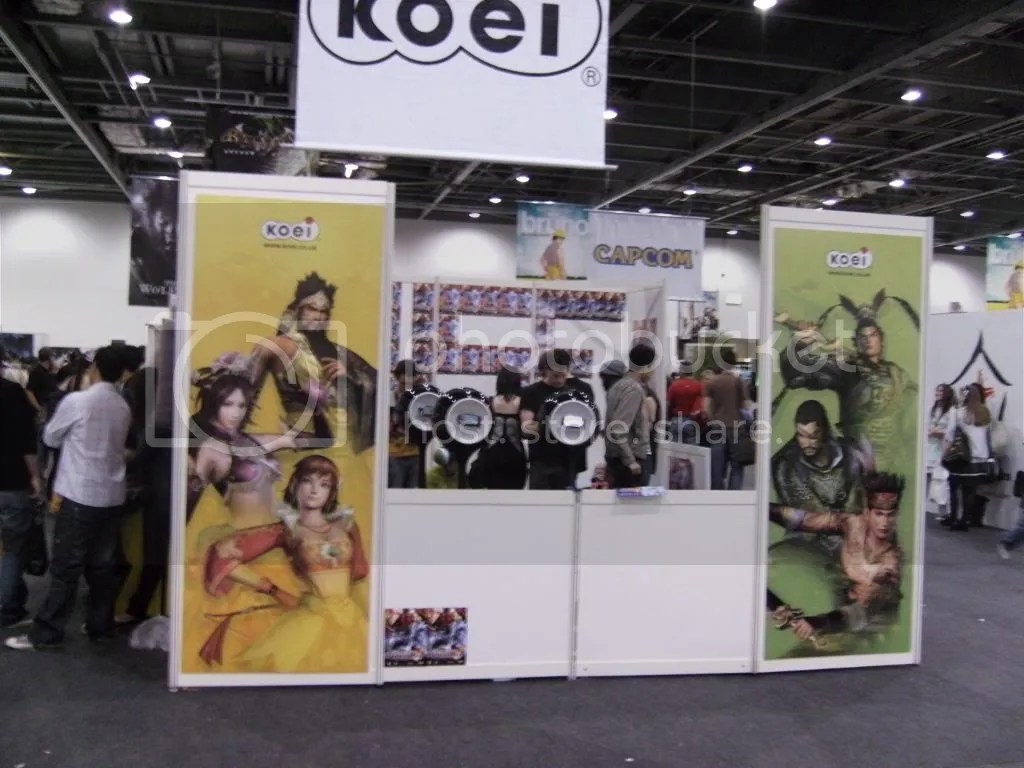 The KOEI stand, mainly promoting Dynasty Warriors new game for the PSP~
