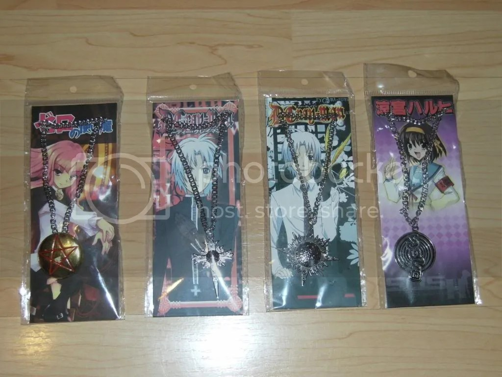 Zero no Tsukaima, D. Gray-Man and Haruhi necklaces!