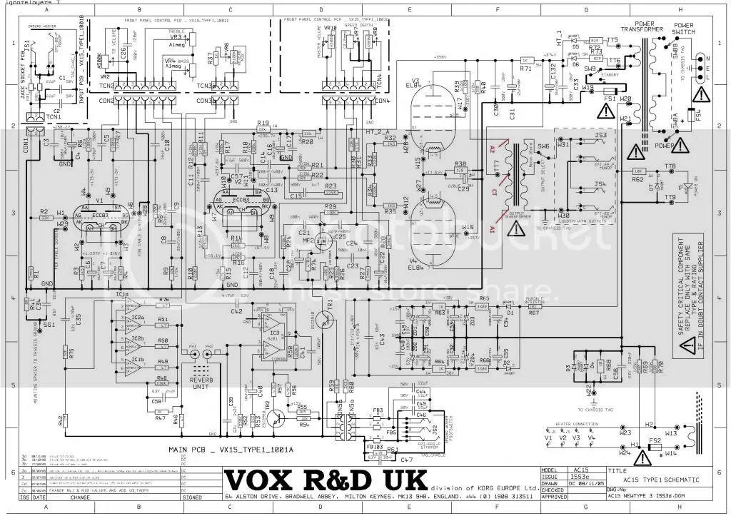 Vox ac15 cc1 squealing post output transformer upgrade