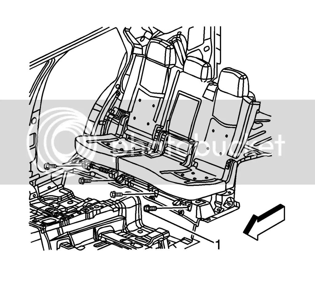 Rear Seat 09 Srx Removal