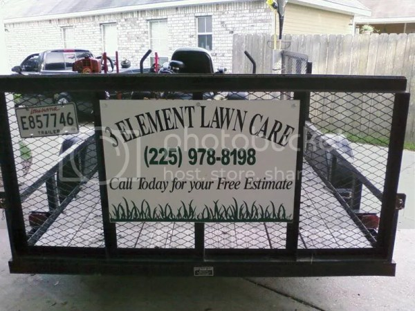 signs open trailers lawnsite