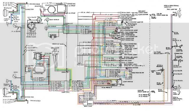 56 Wiring Diagram COLORED TriFive Com 1955 Chevy 1956 Chevy