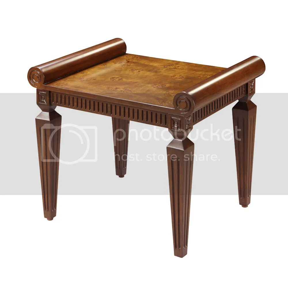 Traditional French Regency Style Decor Furniture Burl Wood