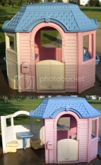 $125 Little Tikes Patio Playhouse (large Size, Wheelchair ...