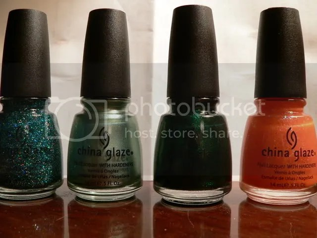 Atlantis, Metallic Muse, Emerald Sparkle, Dreamsicle