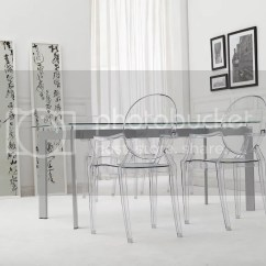 Ghost Side Chair Cover Rentals Washington Dc Philipe Starck Louis Clear Arm Dining Ebay