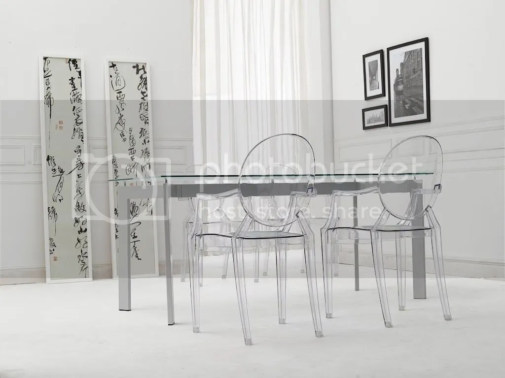 Ghost Chair Replica Philipe Starck Louis Ghost Clear Arm Side Dining Chair Ebay