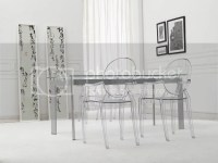 Philipe Starck Louis Ghost Clear Arm Side Dining Chair | eBay