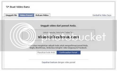 cara mengirim video ke facebook melalui handphone / mobile phone