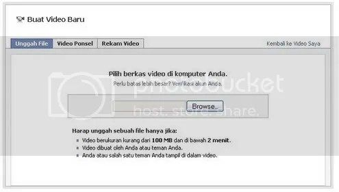 cara upload video dari hard disk komputer ke facebook