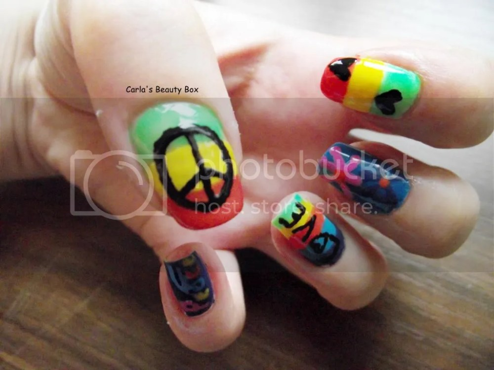 T.P.A Group Challenge: 17. Hippie nails (4/6)