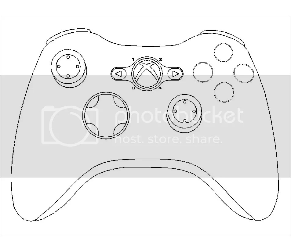 xbox remote control coloring pages