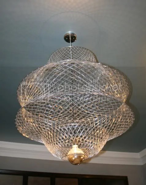 Paper Clip Lamp, handmade from over 4,000 little clips!