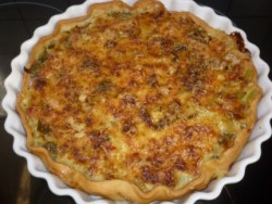Blog de valsixt : Les gourmandises de Val, Tarte aux poireaux et jambon