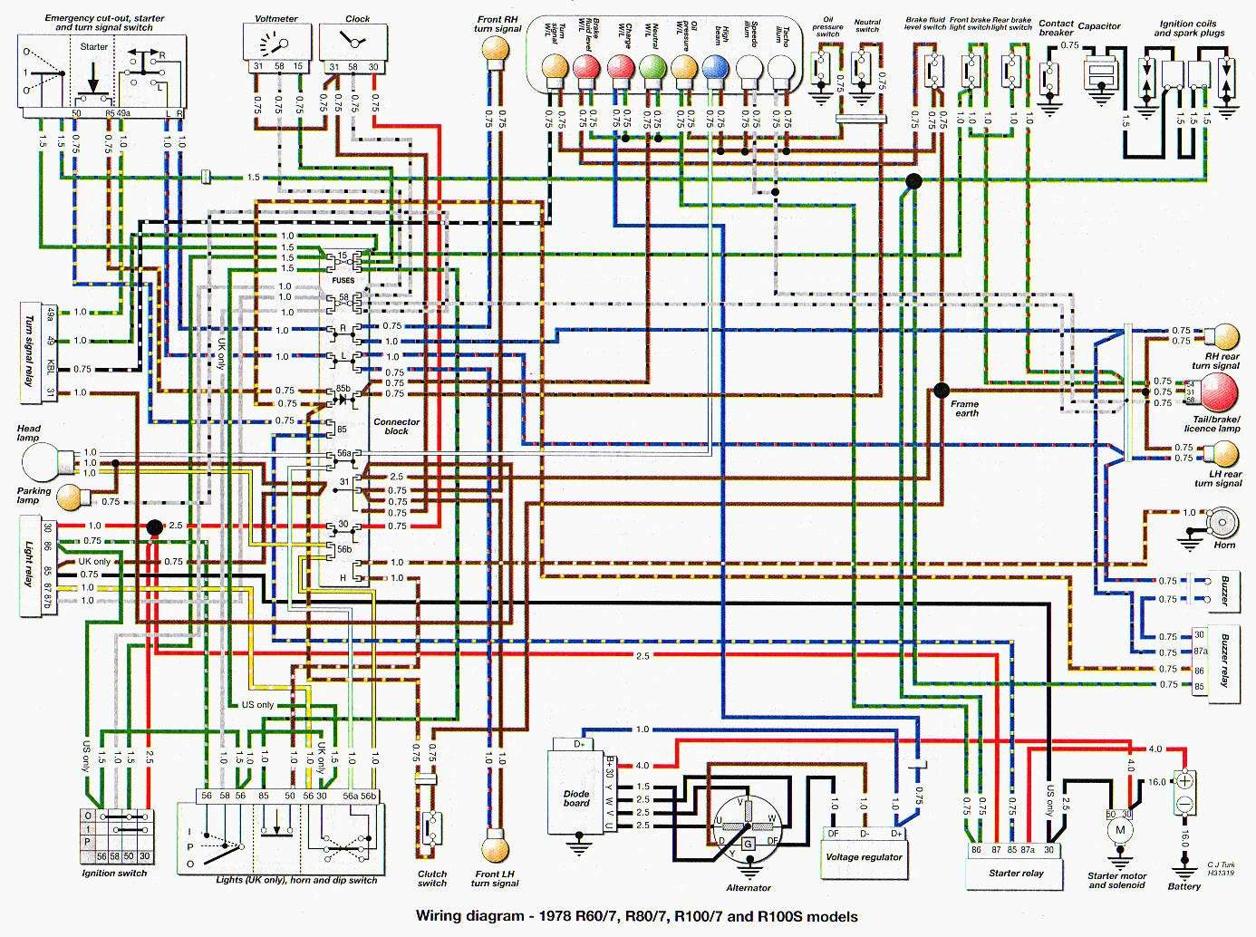 e30 headlight switch wiring diagram dimplex electric baseboard heater bmw r100 rt 7 carénage démonté plus démarré