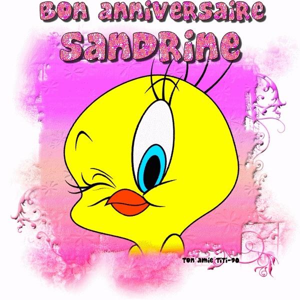 Carte Joyeux Anniversaire Sandrine Dasaquenguli Forsa