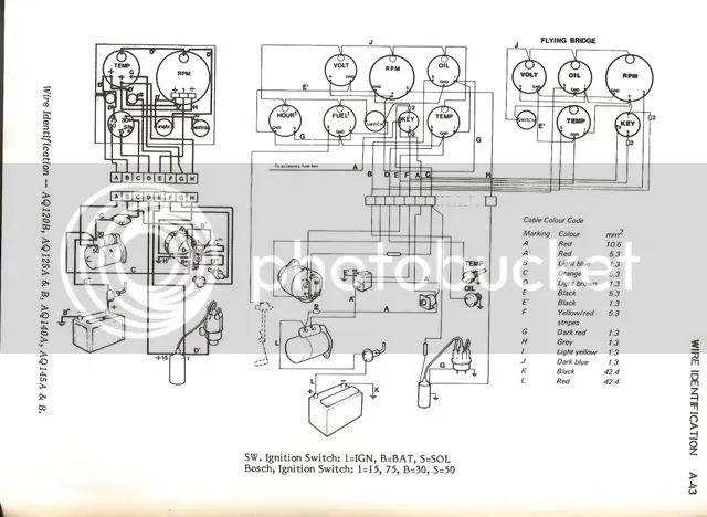 volvo penta aq125a wiring diagram