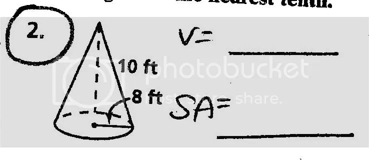 Anyone Here Good With Geometry (Surface Area & Volume