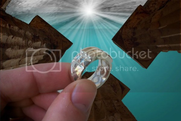 Sterling Silver Atlantis Ring Anillo Atlante Shiny