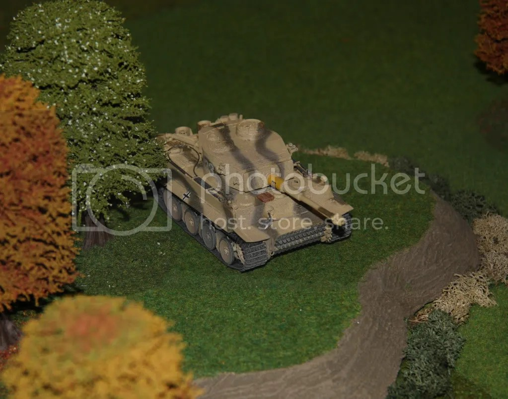Tiger tank looking for targets
