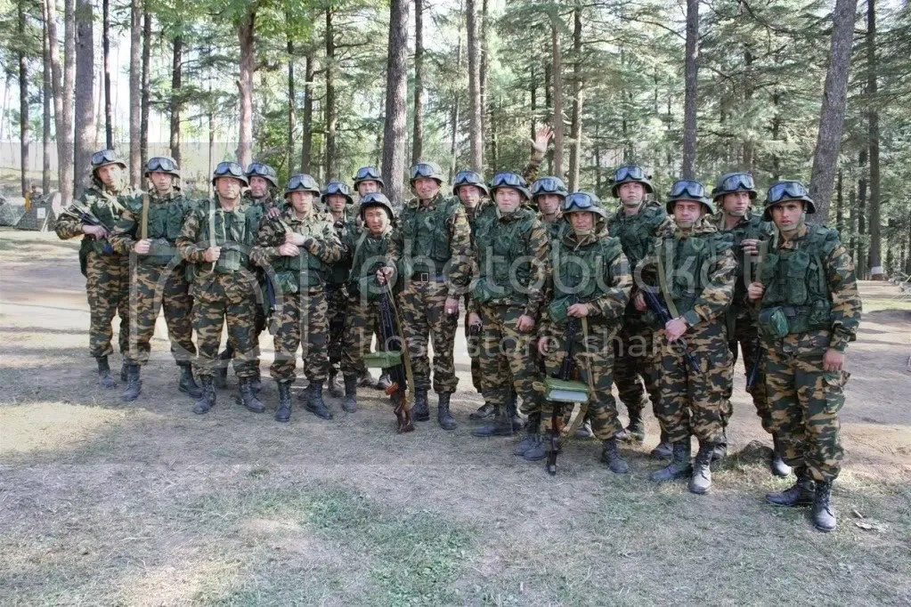 Men from the Russian 34th Mountain Brigade
