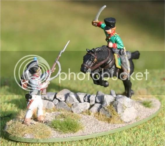 Feldjäger attacking French Fusilier