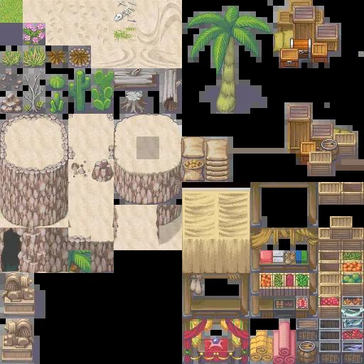 XP to VX/Ace Desert B Tiles