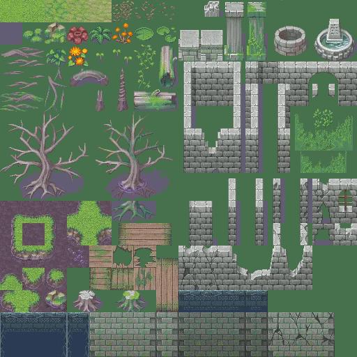 XP to VX/Ace Swamp Ruin Tiles
