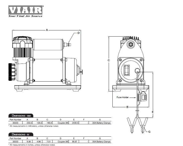 Viair 300P Portable Compressor 12V DC up to 33 Inch 33%