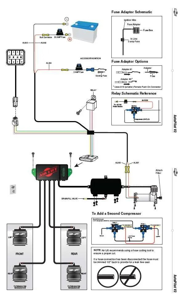 airbag suspension valve wiring diagram harness for stereo air lift auto pilot v2 1/4
