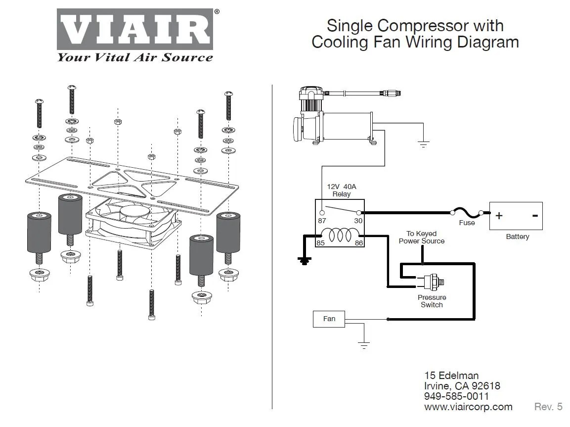 Viair Compressor Cooling Fan & Vibration Isolator Kit wMounting HW & Bracket | eBay