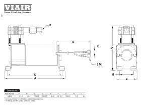 Viair 90C 120 psi Air Compressor W External Check Valve (9% Duty Sealed) 00090 818114000904 | eBay