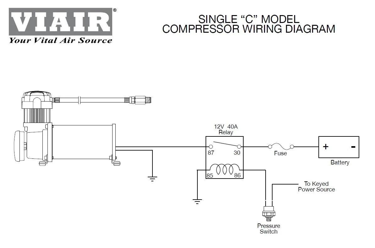 Viair 90101 Air Ride Suspension Pressure Switch 85 105 PSI 1 8