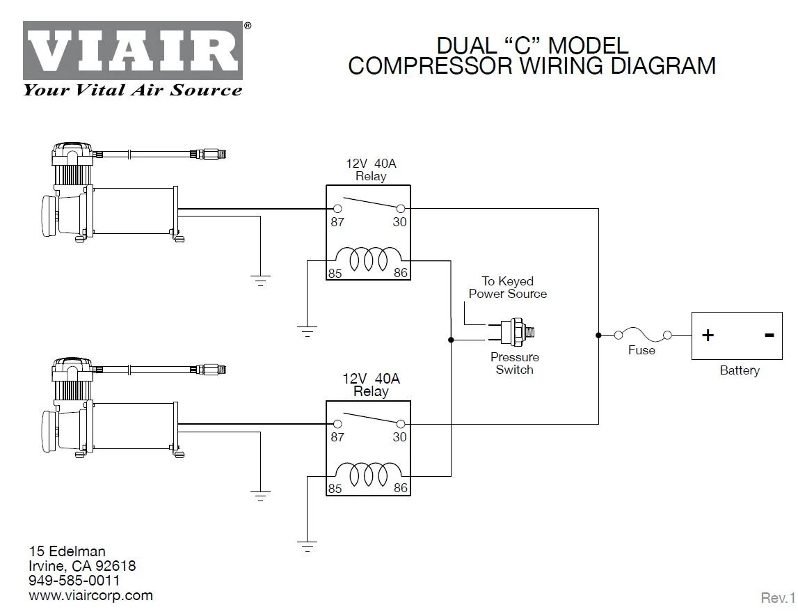 hight resolution of viair wiring diagram wiring libraryviair 280c black on silver dual pack 150 psi max air ride