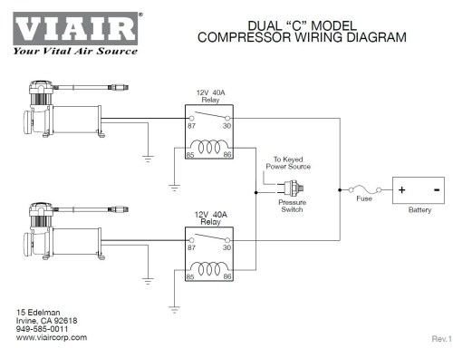 small resolution of viair 280c black on silver dual pack 150 psi max air ride suspension wiring diagram