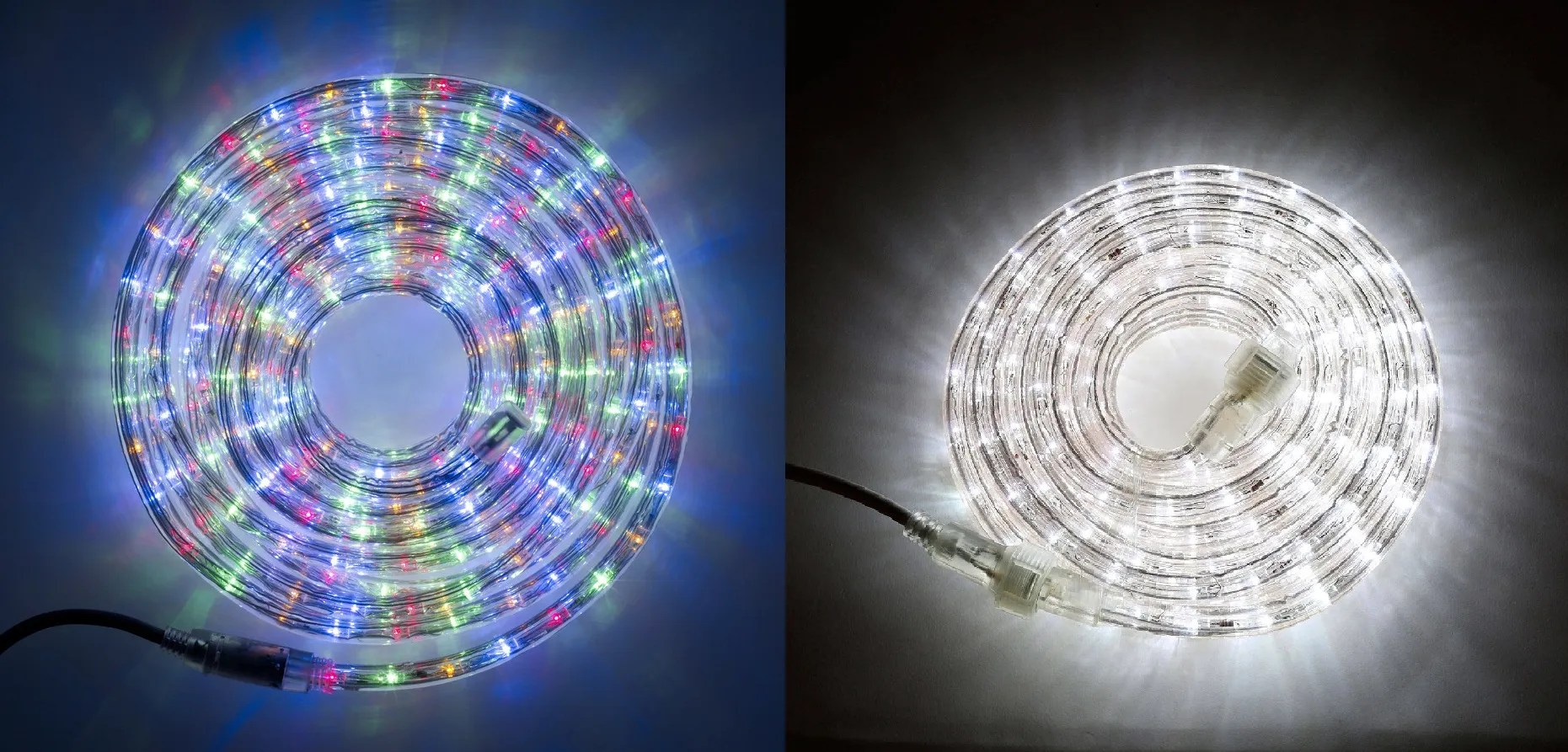 50ft LONG LED Rope Lights Multi Color White Indoor Outdoor