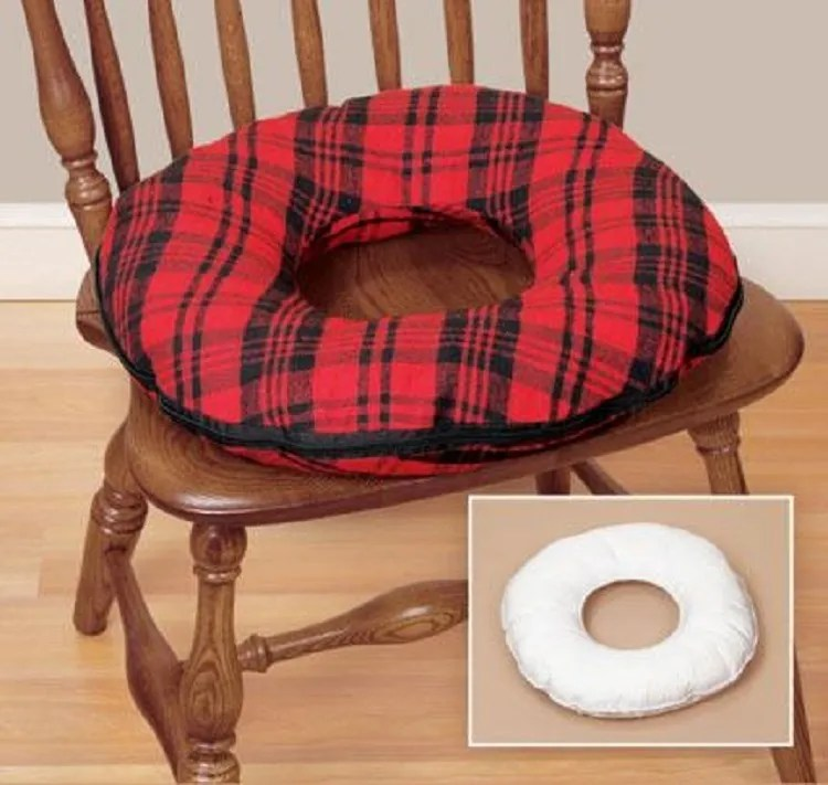 Hemorrhoid Seat Cushion Ring Donut Round Pillow Medical Coccyx Seat Travel NEW  eBay