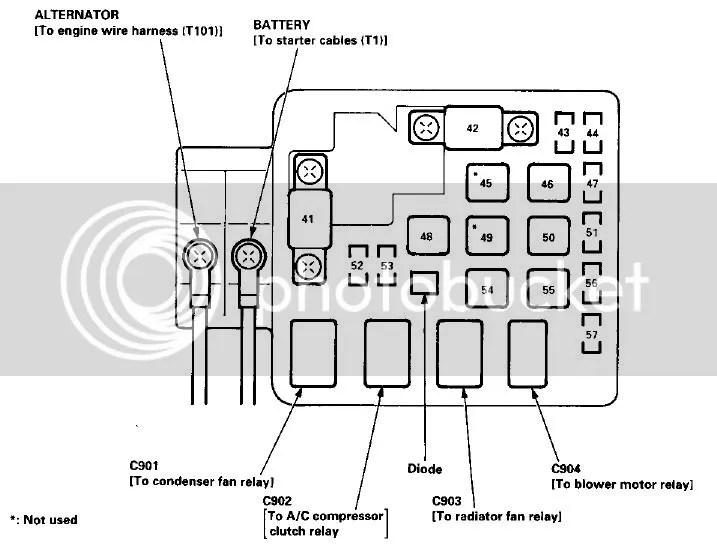 Tutorial Esquemas de fusibles Civic 92-2000 Honda del Sol