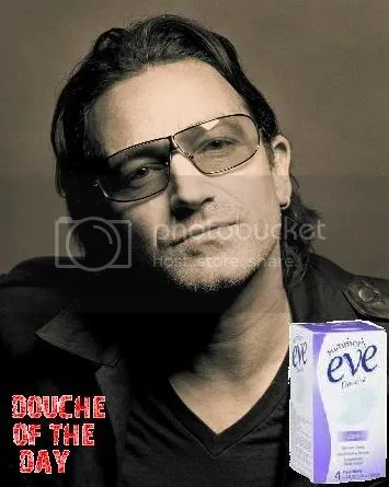DOUCHE OF THE DAY: BONO