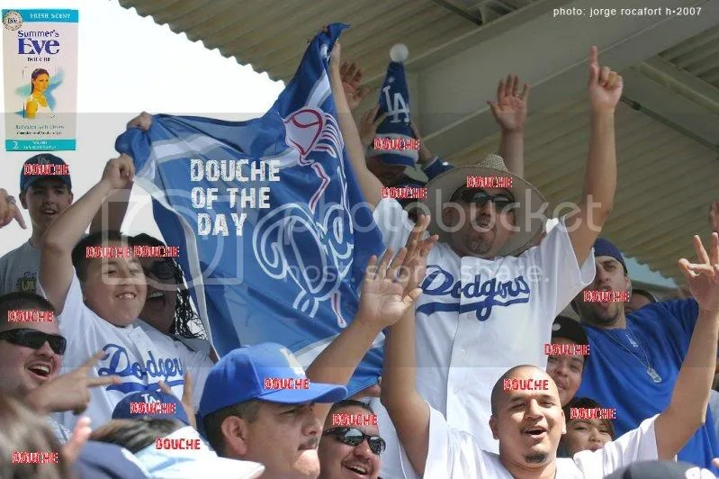 DOUCHE OF THE DAY: DODGERS FANS