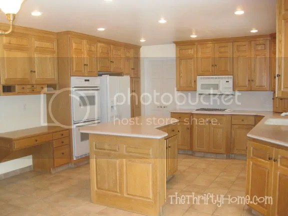 blonde kitchen cabinets stuff the thrifty home remodel painting jenlinks